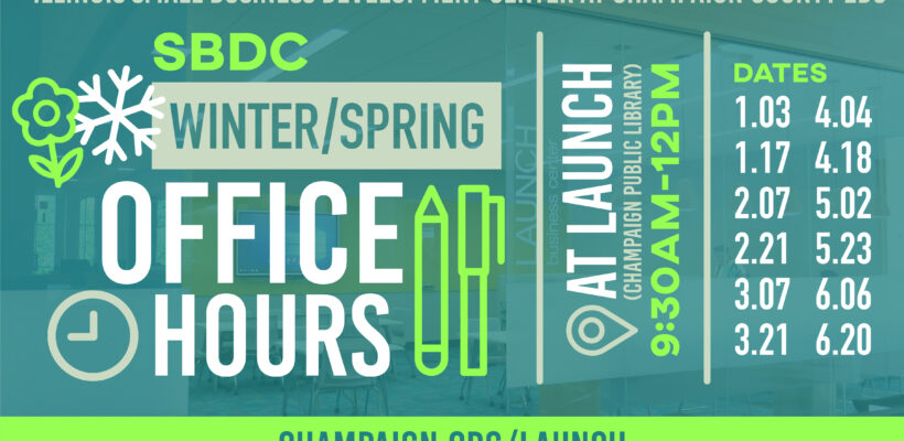 SBDC Office Hours at Champaign Public Library